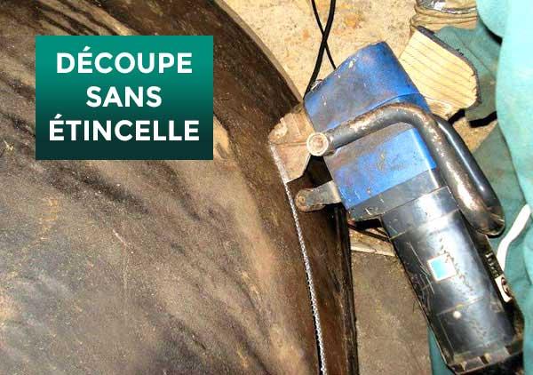 decoupage cuve fuel citerne mazout reservoir hydrocarbures toulouse montauban